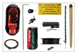 208320.  CountrystoreDirect Premium Fox Fence Kit - Mains/Battery Powered