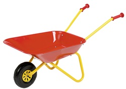 270804.  Red Metal Wheelbarrow - by Rolly Toys
