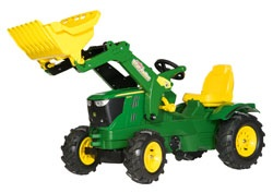611096. John Deere 6210R Pedal Tractor with Loader - by Rolly Toys