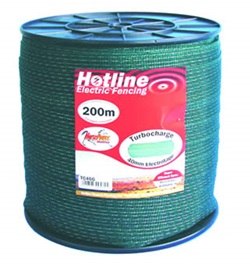 TC46G-2.  40mm Hotline Turbocharge Premium Green Polytape (200m)